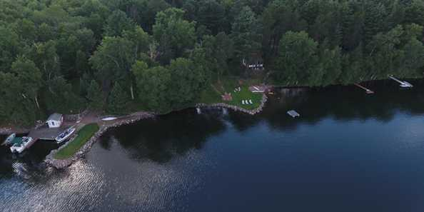 Located on the shores of 1500-acre crystal-clear Presque Isle Lake.