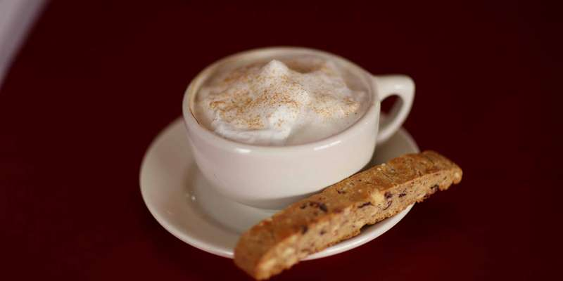 Latte and biscotti