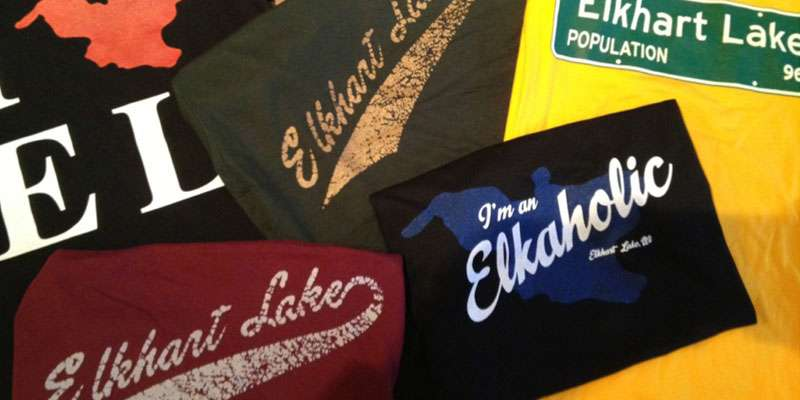 T-shirts made especially for Elkhart Lake.