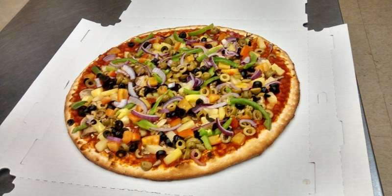 Veggie Pizza with no cheese. We make it the way you like it!