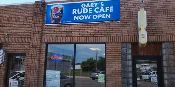 Gary's Rude Cafe located on Main Street in downtown Siren.