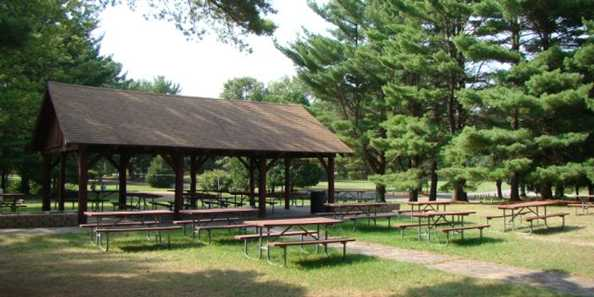Picnic area and shelter