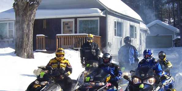Snowmobile Group Enjoys DG House Rental