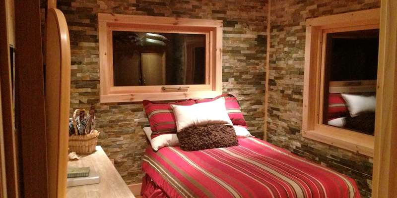 Bedroom at Hauser's Bayfield Cabin