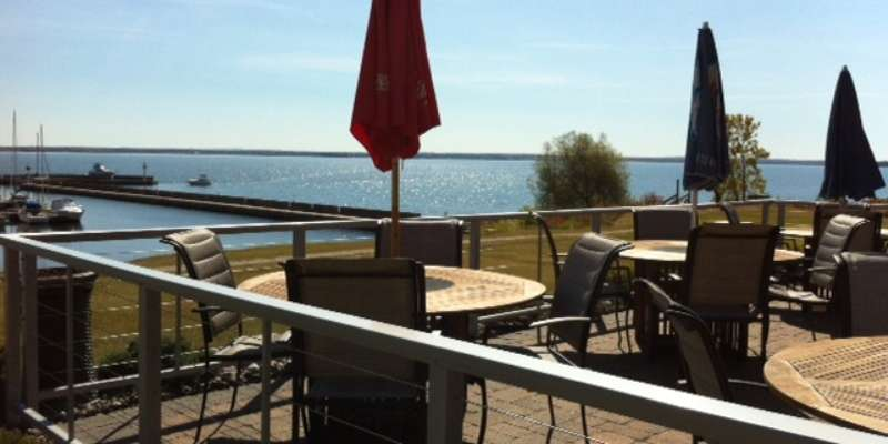 Relax with a refreshing beverage and enjoy the beautiful view of Lake Superior out on the patio.