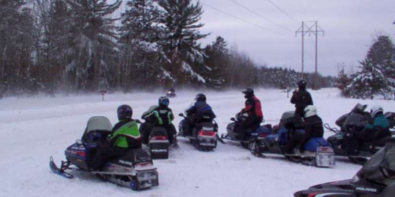 Snowmobile rentals available.