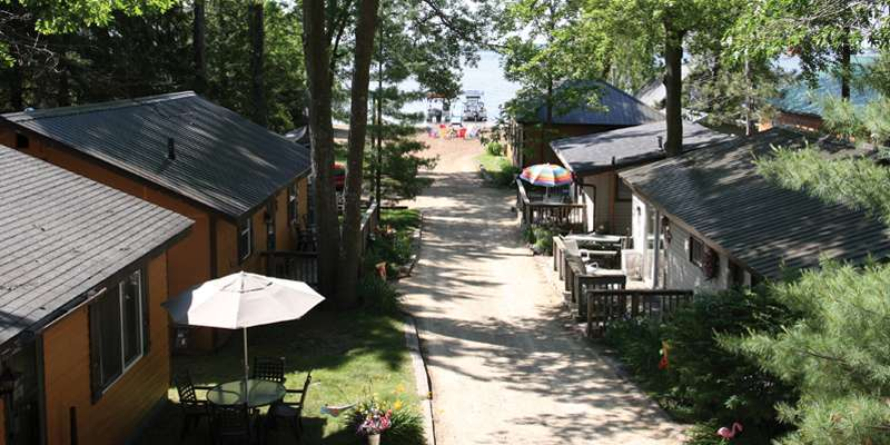 Rent this view for your next Shawano Lake vacation.