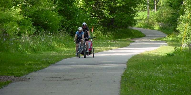 Great for biking and hiking, the Interurban Trail is utilized year round.