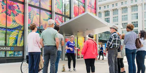 The Art Walk is artist-led and highlights the many sculptures of downtown Milwaukee.