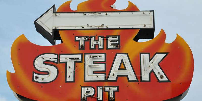 There's no mis-steak-ing the location of this fine Washburn eatery on Harbor View Drive.