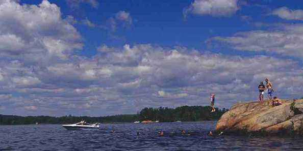 Swimming at High Falls Flowage