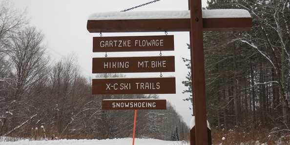 Gartzke Flowage Entrance Sign