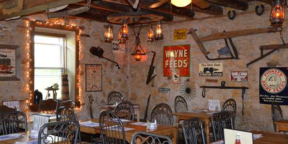 Housed in a 155-year-old fieldstone farmhouse, the Farmstead Restaurant is a popular choice with diners.