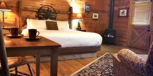 Upgraded in 2020, the linen program on the amazingly luxurious king beds at The Kickapoo Valley Ranch Guest Cabins is some of the finest in the Midwest!