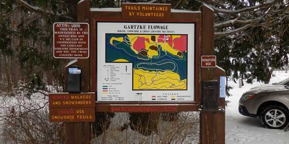 Gartzke Flowage Main Trail Map in Parking Lot