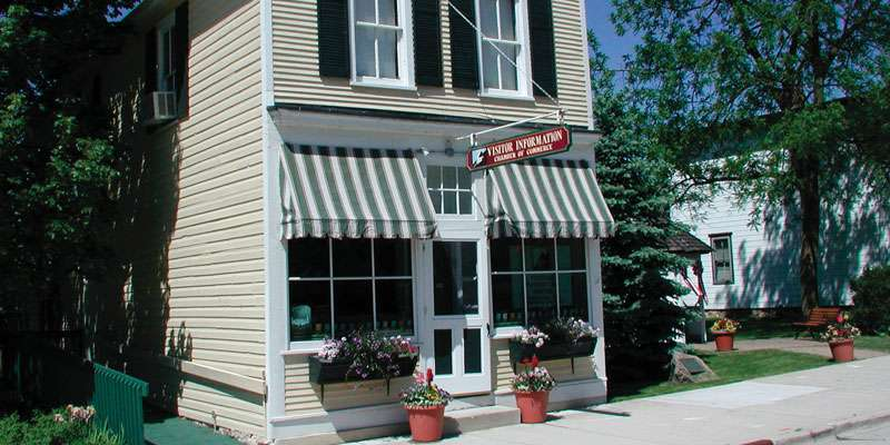 Elkhart Lake's Visitor Center is located in downtown Elkhart Lake. Please stop in for a visit. We're open Monday through Friday (9-4) and Saturday mornings in the summer when the Farmers & Artisan's Market is underway across the street.