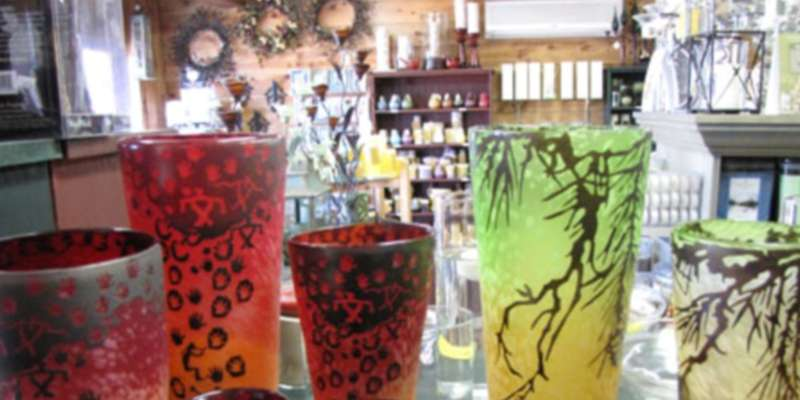 Artisan Glass Candle Holders by Europa