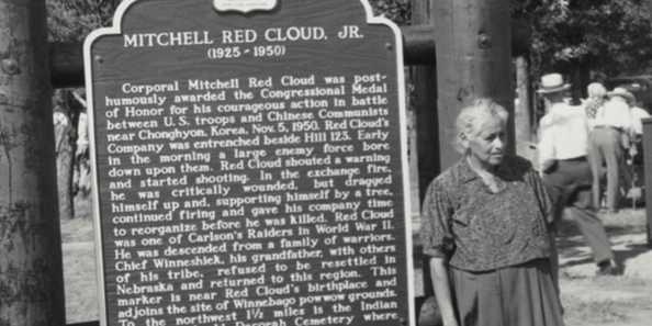 Mitchell Red Cloud, Jr. Historic Marker