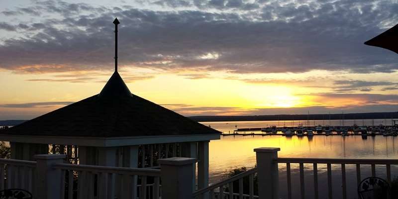 Savor the gorgeous sunset over Chequamegon Bay from the deck at Molly Cooper's.