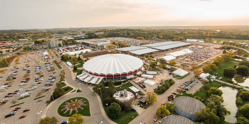 The Alliant Energy Center Campus during World Dairy Expo 2014.