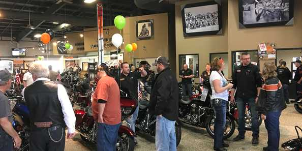 H-D of Madison Sales Floor at 2nd Anniversary Party