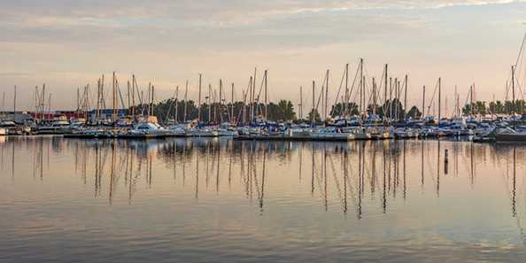 """Barker's Island in the Morning"" by Randen Pederson. Photo from barkers-island-marina.com"
