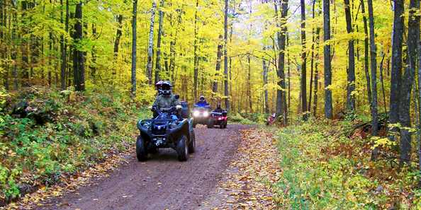 ATVing on the Minong area (Washburn County) ATV Trails