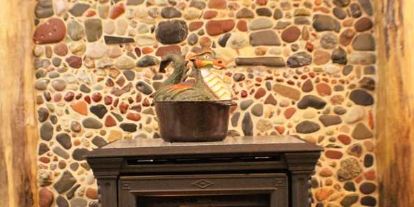 Hand picked Lake Superior stones for fireplace