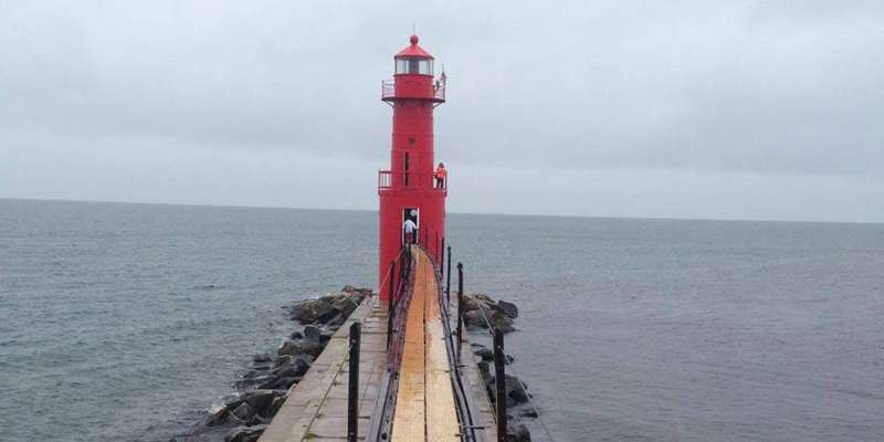 The Algoma Lighthouse received a brand new coat of paint in the Fall of 2014