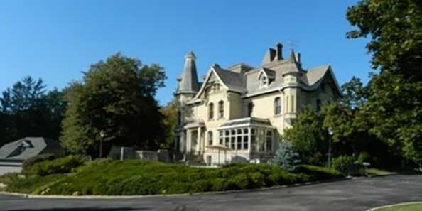 The Inn at Pine Terrace is a historical home built in the 1900s that now serves as a bed and breakfast.