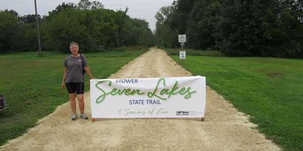 Stower Seven Lakes State Trail.