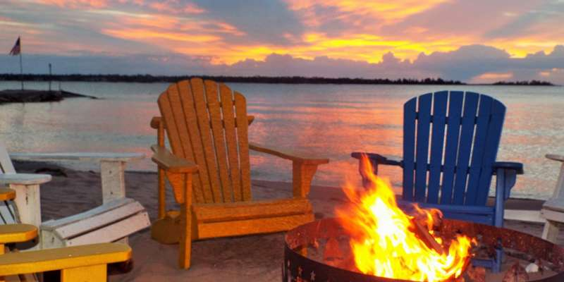 Take in the beauty of dusk at our nightly campfire.
