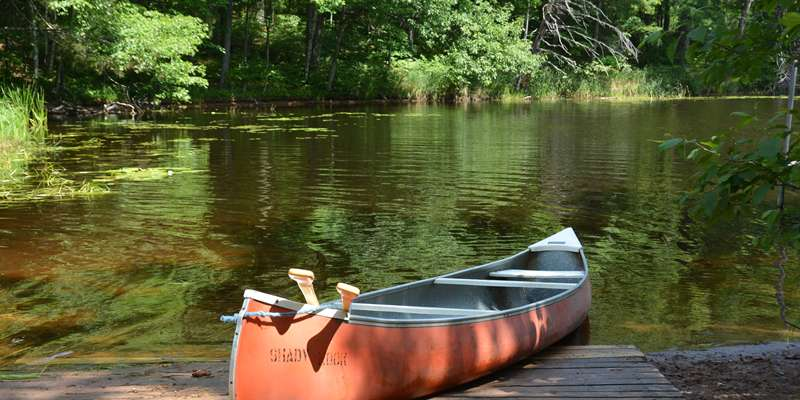 Enjoy a quiet day in a canoe