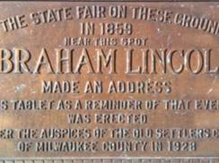 Image for Lincoln's Speech Site Marker
