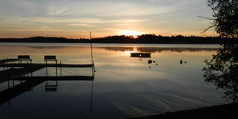 Pike Lake Chain, dock & swim raft