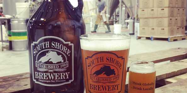 South Shore Brewery has new growlers, pint glasses and taster glasses for sale with the updated logo.