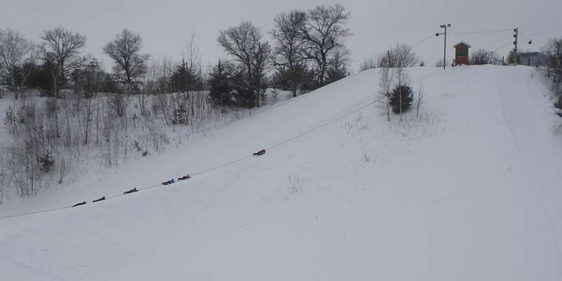 Big hill and rope tow.