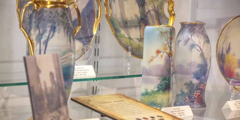 Crafting Excellence: Pickard China exhibit in the Helen Jeffris Wood Museum Center