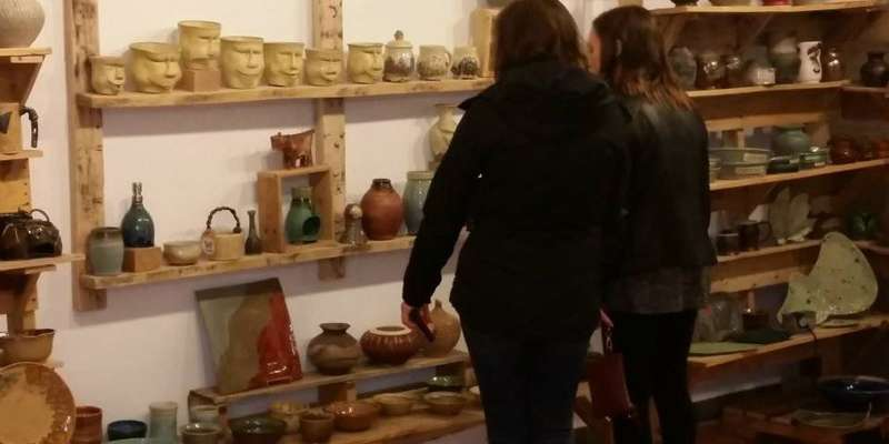 Waukesha Art Crawl at Potter's Shop[