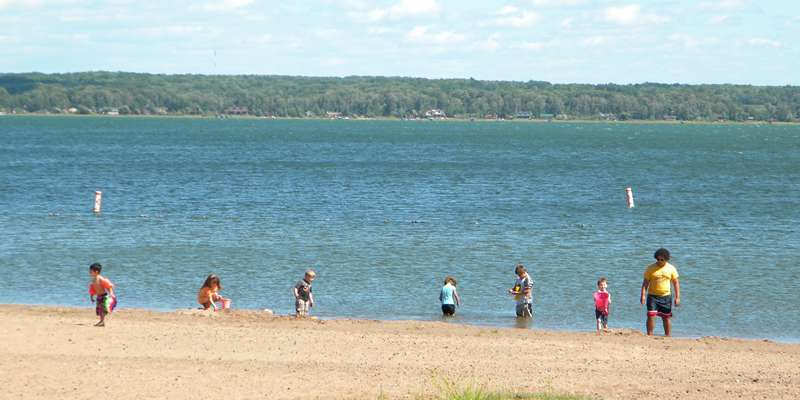Shell Lake beach