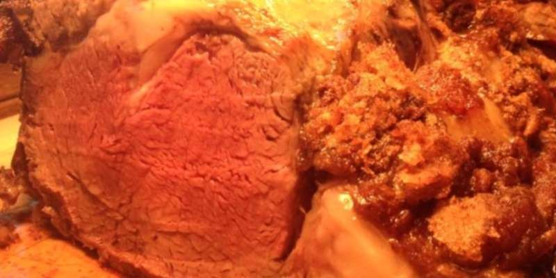 Saturday night special prime rib.