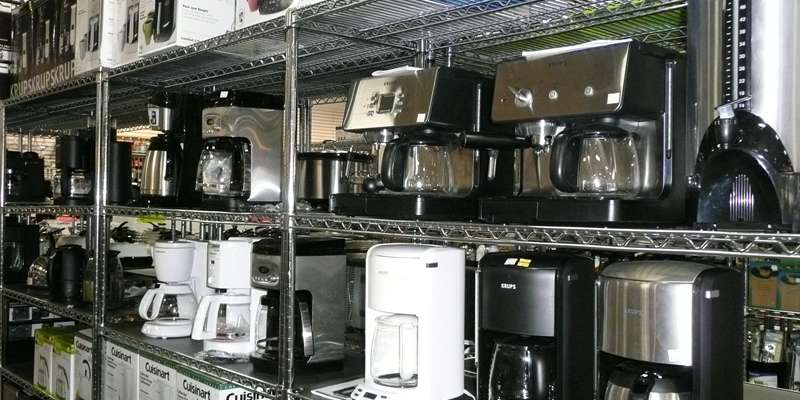 Variety of offerings of small appliances.