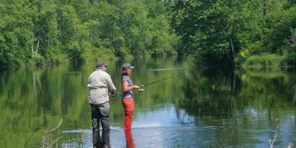 Fishing the South Fork of the Flambeau River in the Kimberly Clark Wildlife Area