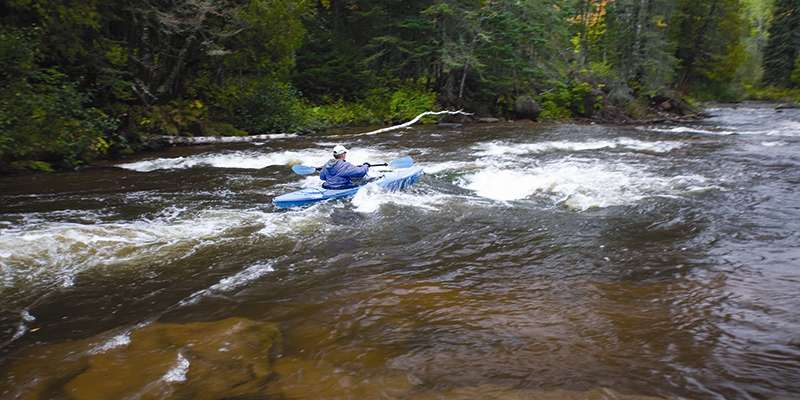 The Bois Brule River has rapids for a variety of skill levels. Photo courtesy of TravelWisconsin.com