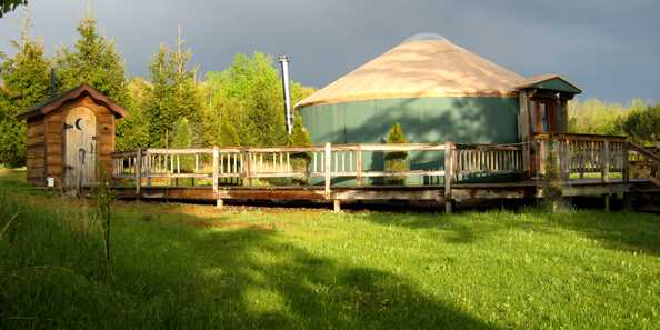 Outside of the Yurt
