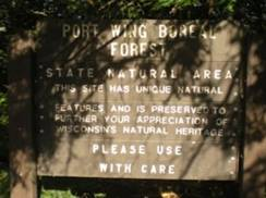 Image for Port Wing Boreal Forest State Natural Area