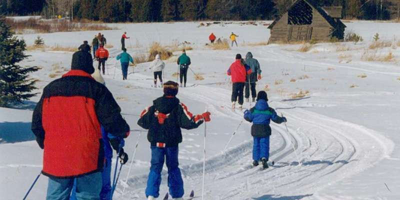 Cross-country skiing at Palmquist Farm