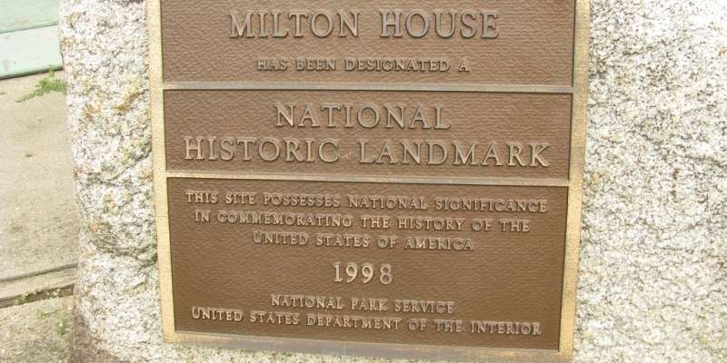 Milton House National Historic Landmark Plaque.
