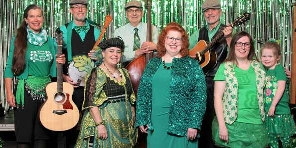 2018 Cast of Shamrocks & Shenanigans Irish Music Show directed by Plymouth's own Irish Lassie, Ms. Mary Calvey.