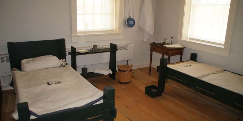 1829 Ward Room, Fort Crawford Hospital.  Fort Crawford Museum